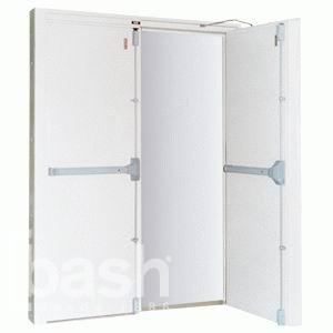 Puerta met lica b sica doble hoja for Precio puerta metalica trastero